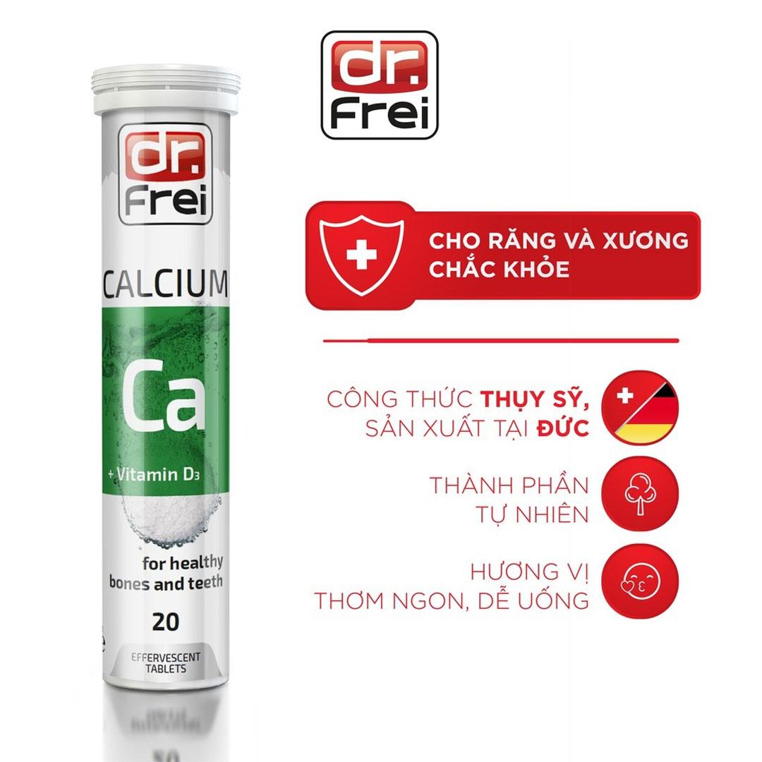 Viên Sủi Bổ Sung Canxi và Vitamin D3 DR. FREI Calcium + Vitamin D3