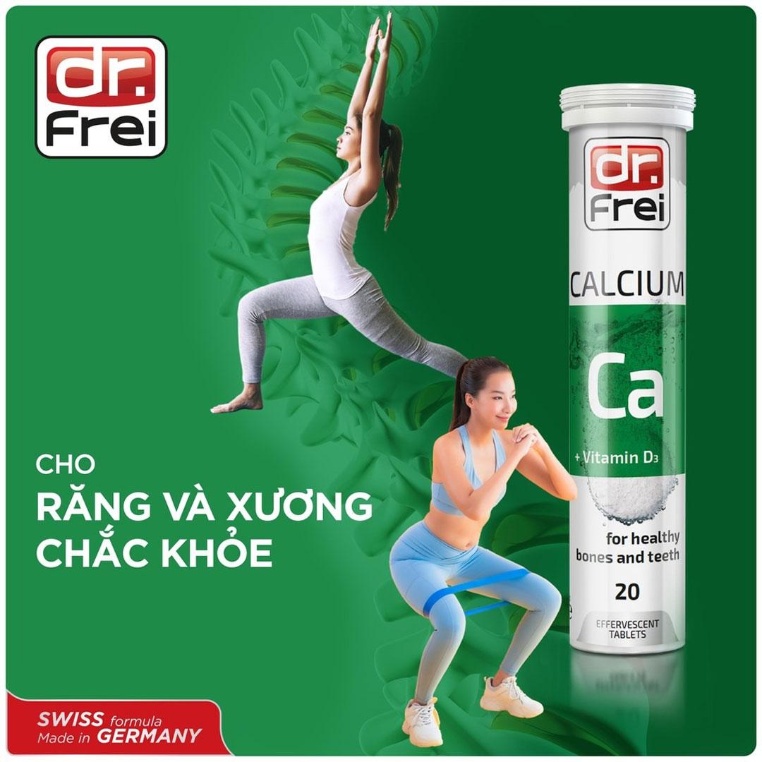 Viên Sủi Bổ Sung Canxi và Vitamin D3 DR. FREI Calcium + Vitamin D3 (20 Viên) hiện đã có mặt tại Hasaki.