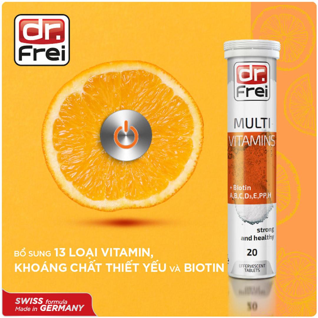 Viên Sủi Bổ Sung Vitamin Tổng Hợp & Biotin DR. FREI Multivitamins + Biotin (20 Viên) hiện đã có mặt tại Hasaki.
