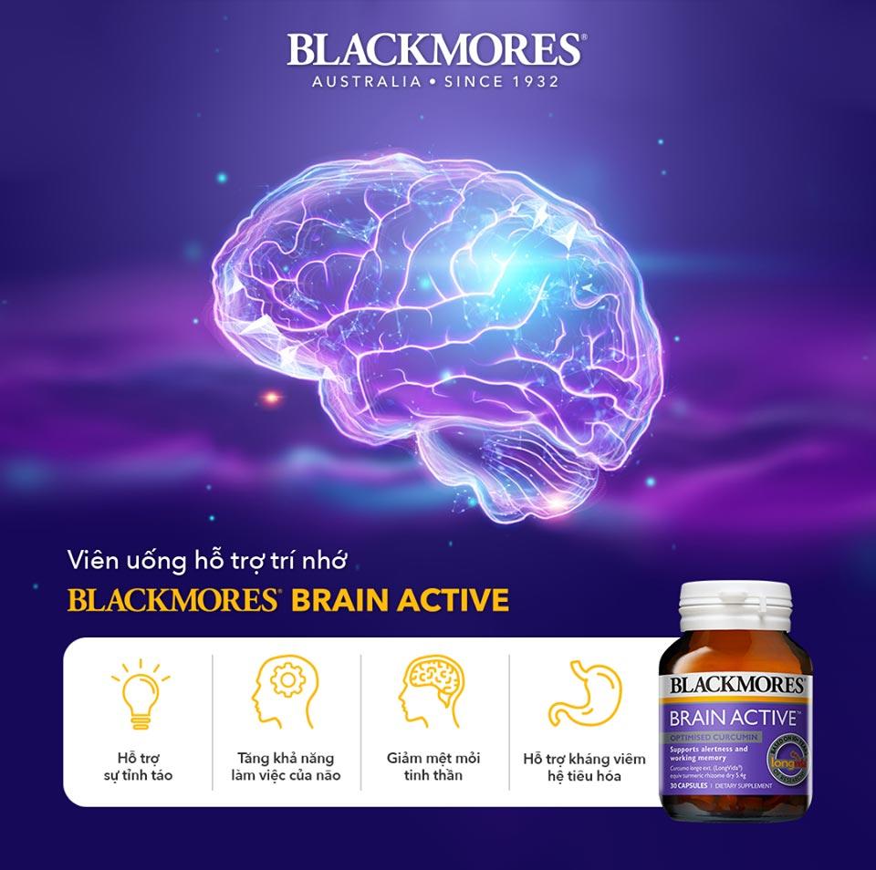 Viên Uống Blackmores Brain Active Bổ Não Tăng Cường Trí Nhớ