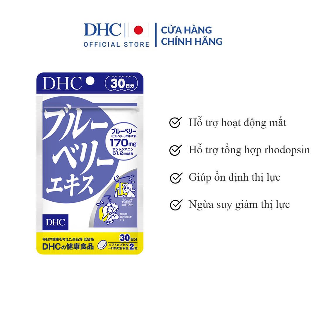 Viên Uống Bổ Mắt Việt Quất DHC Blueberry Extract