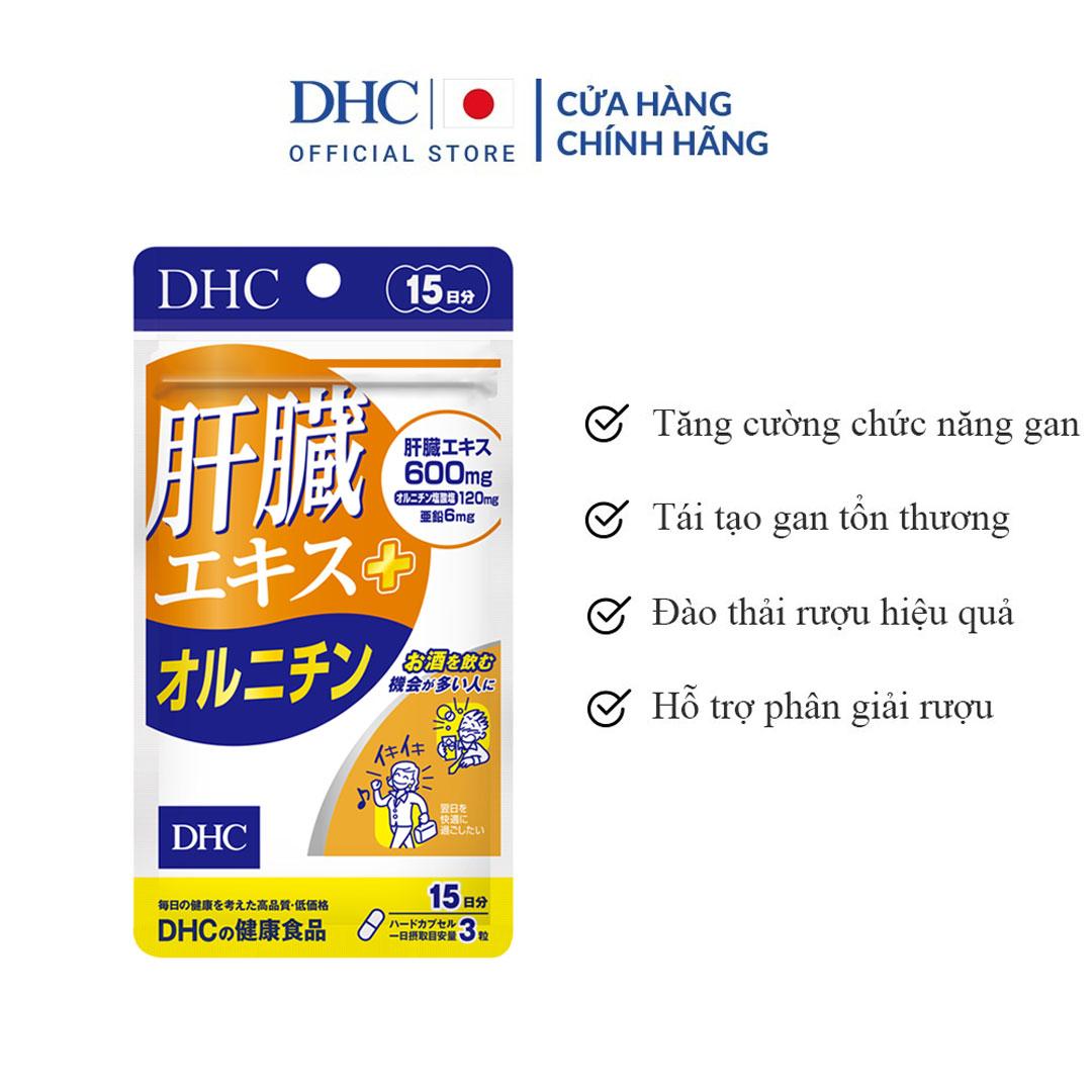 Viên Uống Hỗ Trợ Tăng Cường Chức Năng Gan DHC Liver Essence + Ornithine 15 Ngày