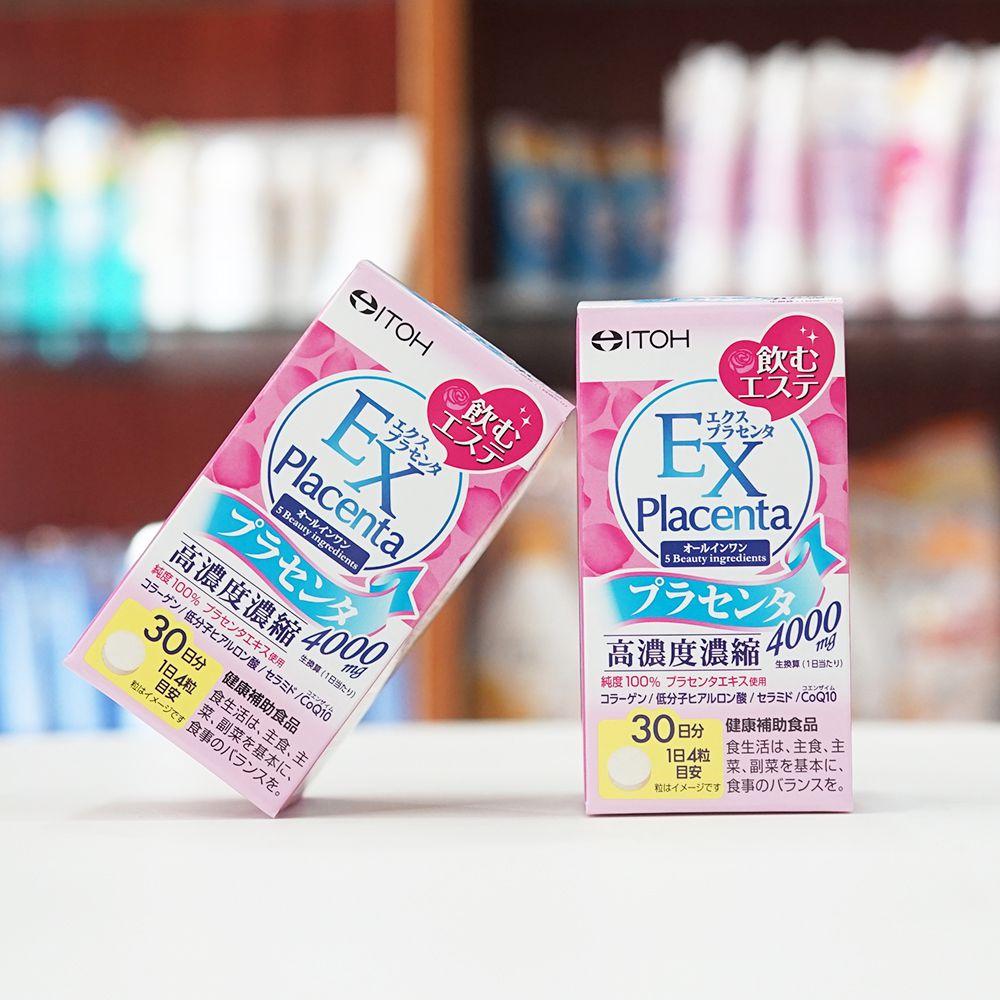 Viên Uống Làm Đẹp Da Từ Nhau Thai Naris ITOH EX Placenta 4000mg 120 Viên