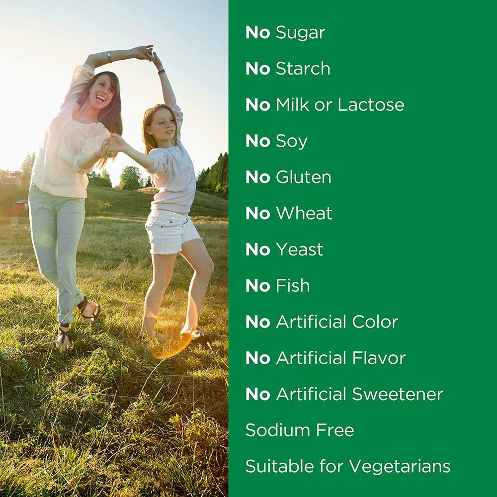 Viên Uống Nature's Bounty Vitamin C 500mg 100 Viên không chứa phẩm màu nhân tạo, hương liệu nhân tạo, chất làm ngọt nhân tạo, chất bảo quản. An toàn cho cơ thể khi sử dụng.