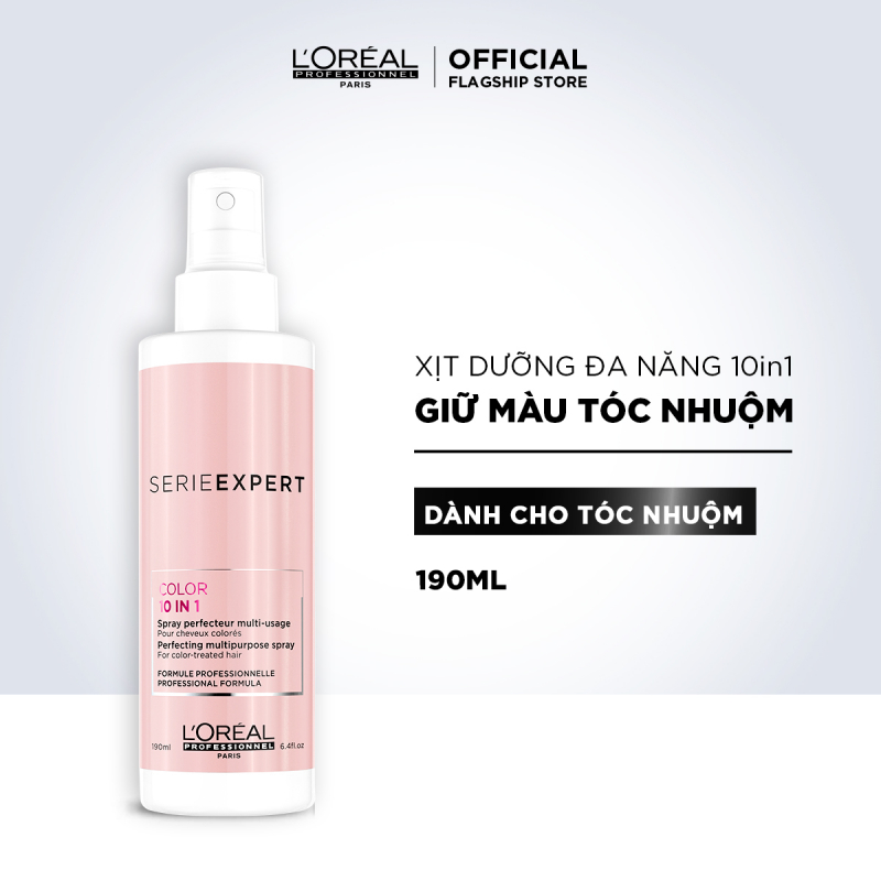Xịt Dưỡng Tóc L'Oréal Professionnel Serie Expert Color 10-in-1 Perfecting Multipurpose Spray