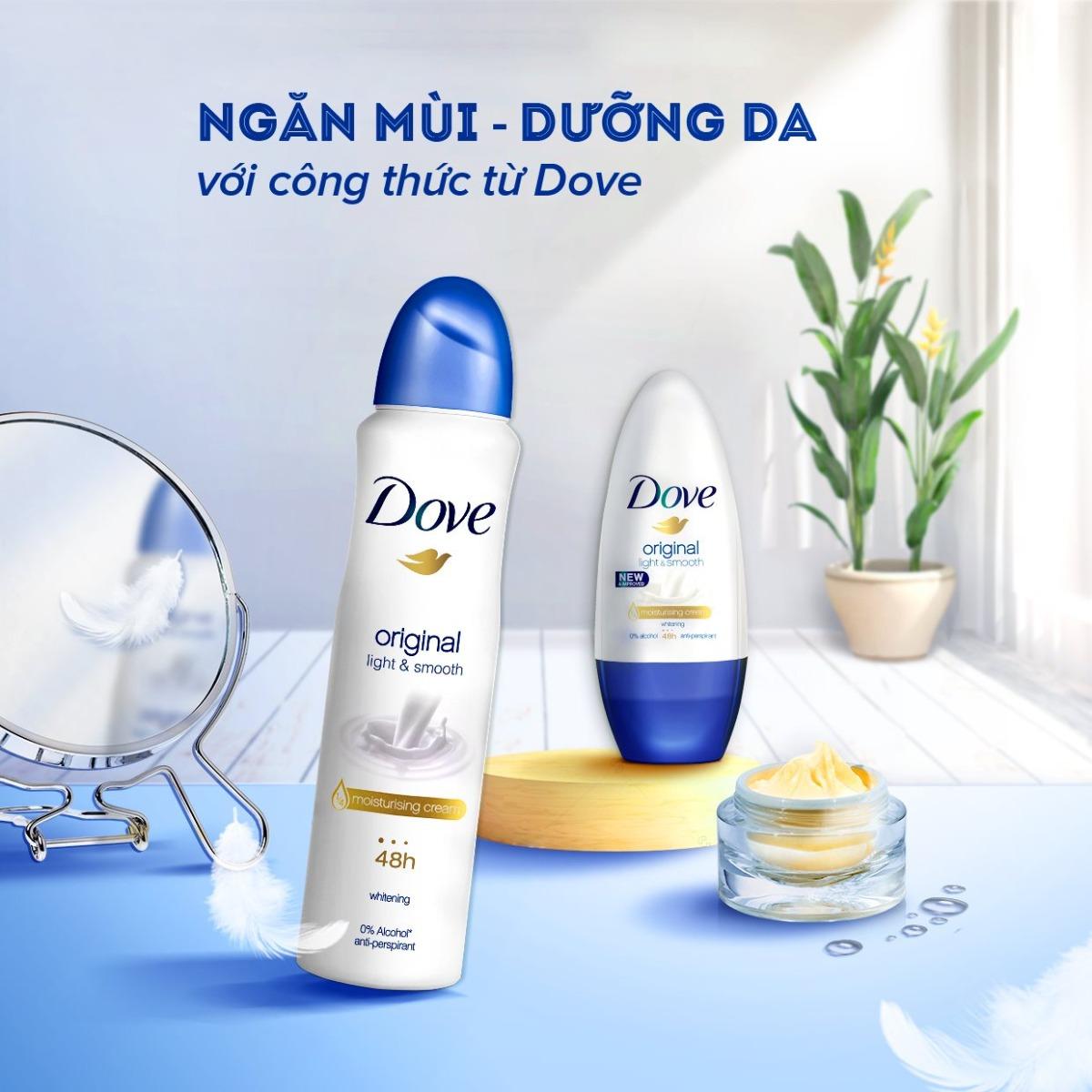 Mua Xịt Khử Mùi Dove Dưỡng Da Sáng Mịn Original tại Hasaki