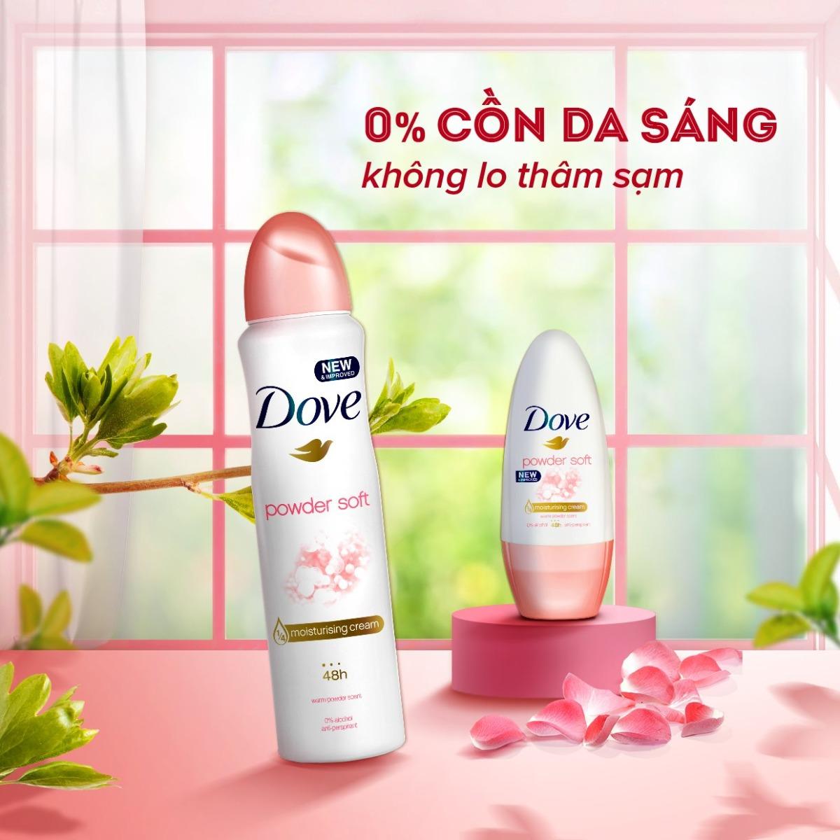 Mua Xịt Khử Mùi Dove Dưỡng Da Sáng Mịn Dove Powder Soft tại Hasaki