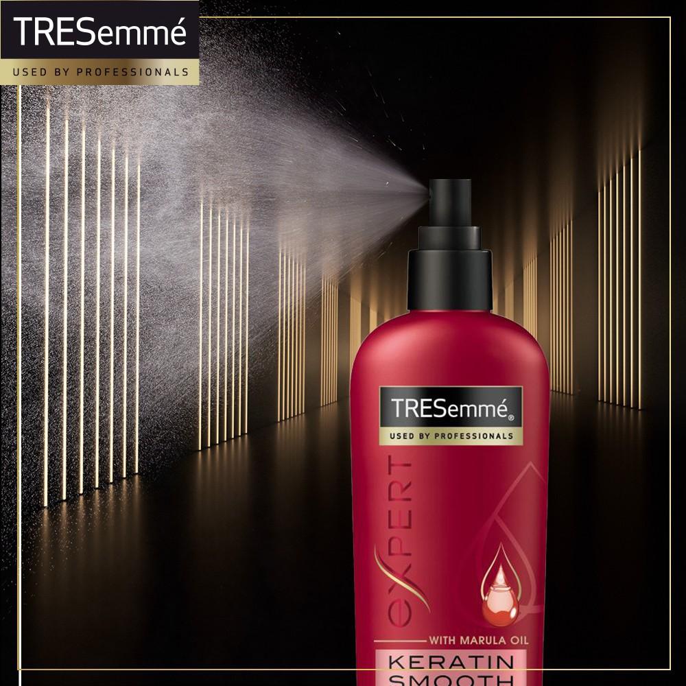 Xịt Bảo Vệ Tóc Khỏi Nhiệt Tresemmé Keratin Smooth (236ml) không lo tóc hư tổn