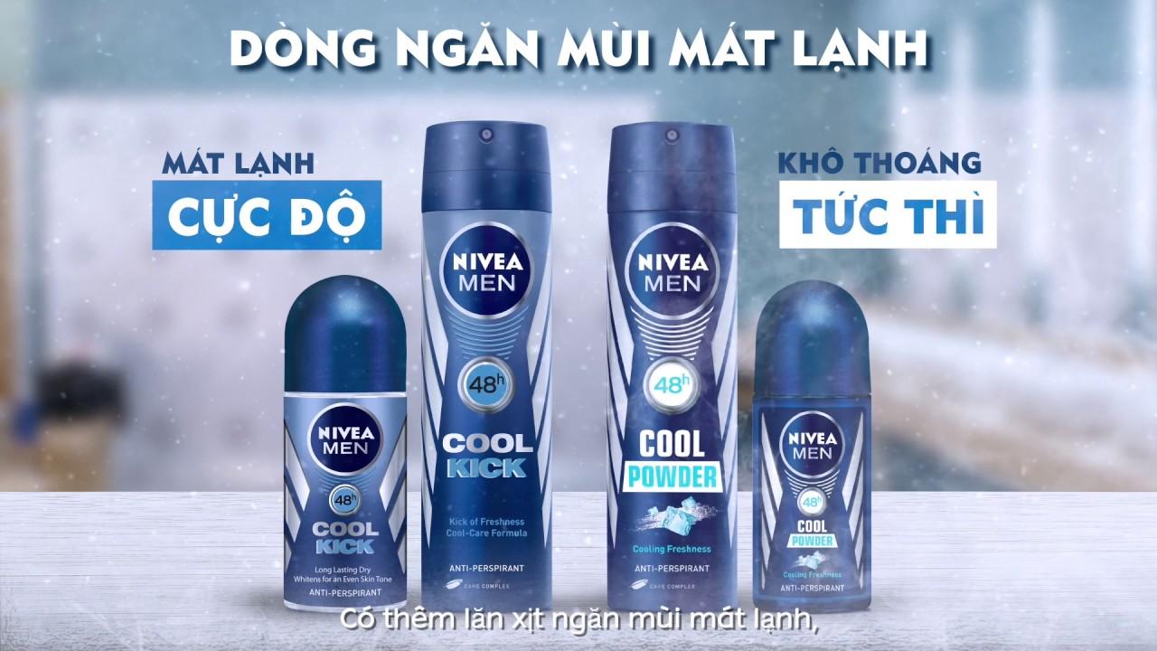 Lăn Khử Mùi Mát Lạnh Nivea Men Cool Kick
