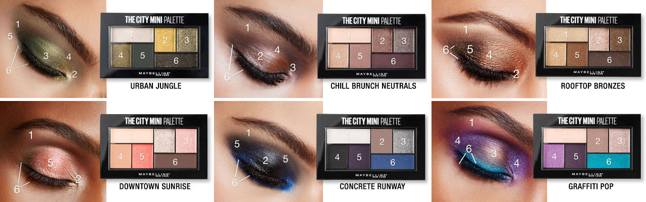 Bảng Phấn Mắt 6 Ô Maybelline The City Mini Palette