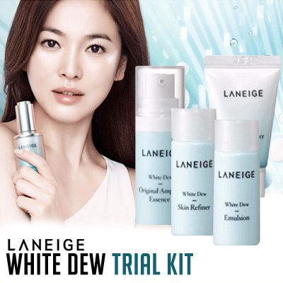 Bộ Kit Dưỡng Sáng Da 5 Món Laneige White Dew Trial Kit