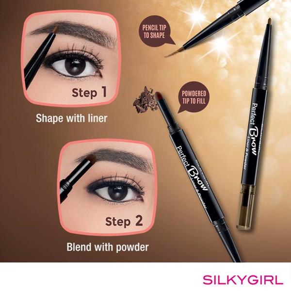 Chì Kẻ Chân Mày Hai Đầu Silky Girl Perfect Brow Liner & Powder