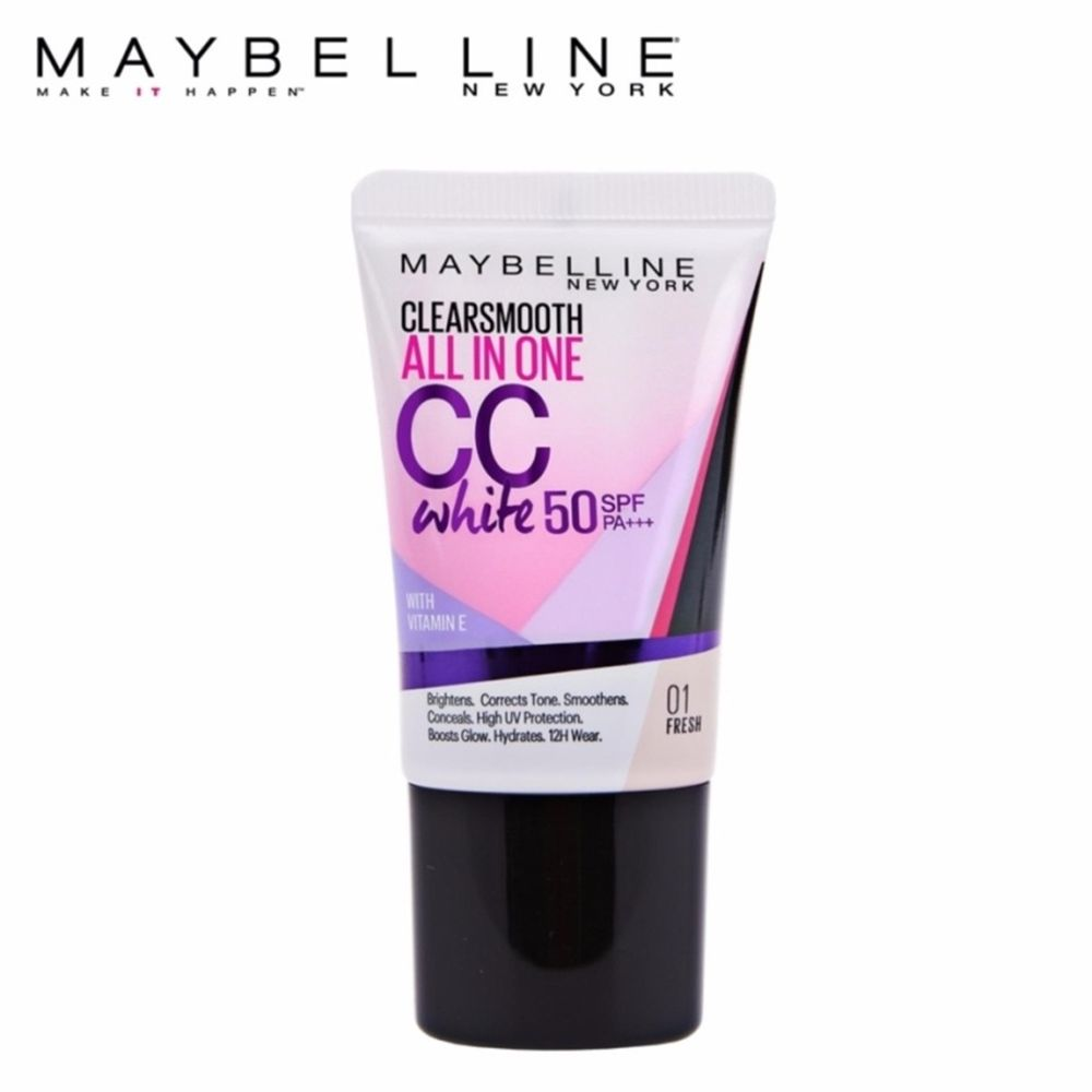 Kem Nền Maybelline Clear Smooth All in One CC White SPF50 PA+++