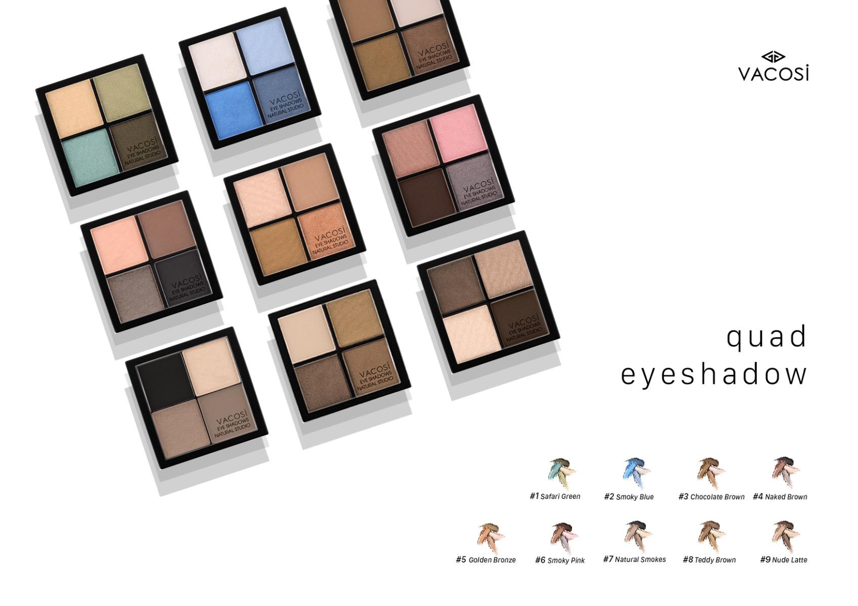 Phấn Mắt Vacosi 4 màu Square Eyeshadow