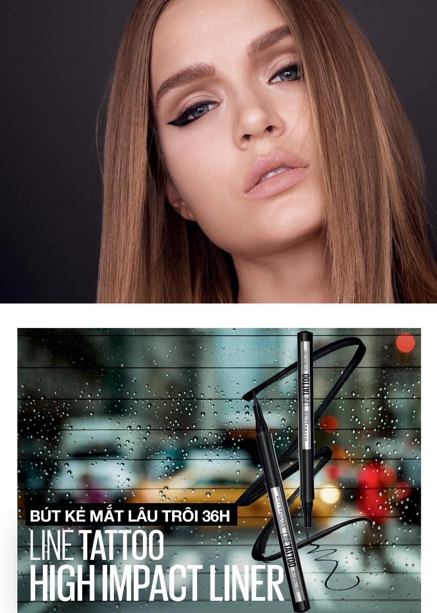 Bút Kẻ Mắt Lâu Trôi Maybelline Line Tattoo High Impact Liner - Intense Black 1g sắc nét