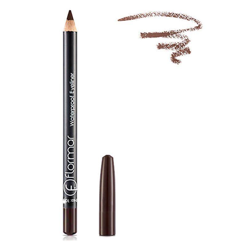 Chì Kẻ Mắt Chống Thấm Nước Flormar Waterproof Eyeliner Pencil màu nâu tự nhiên