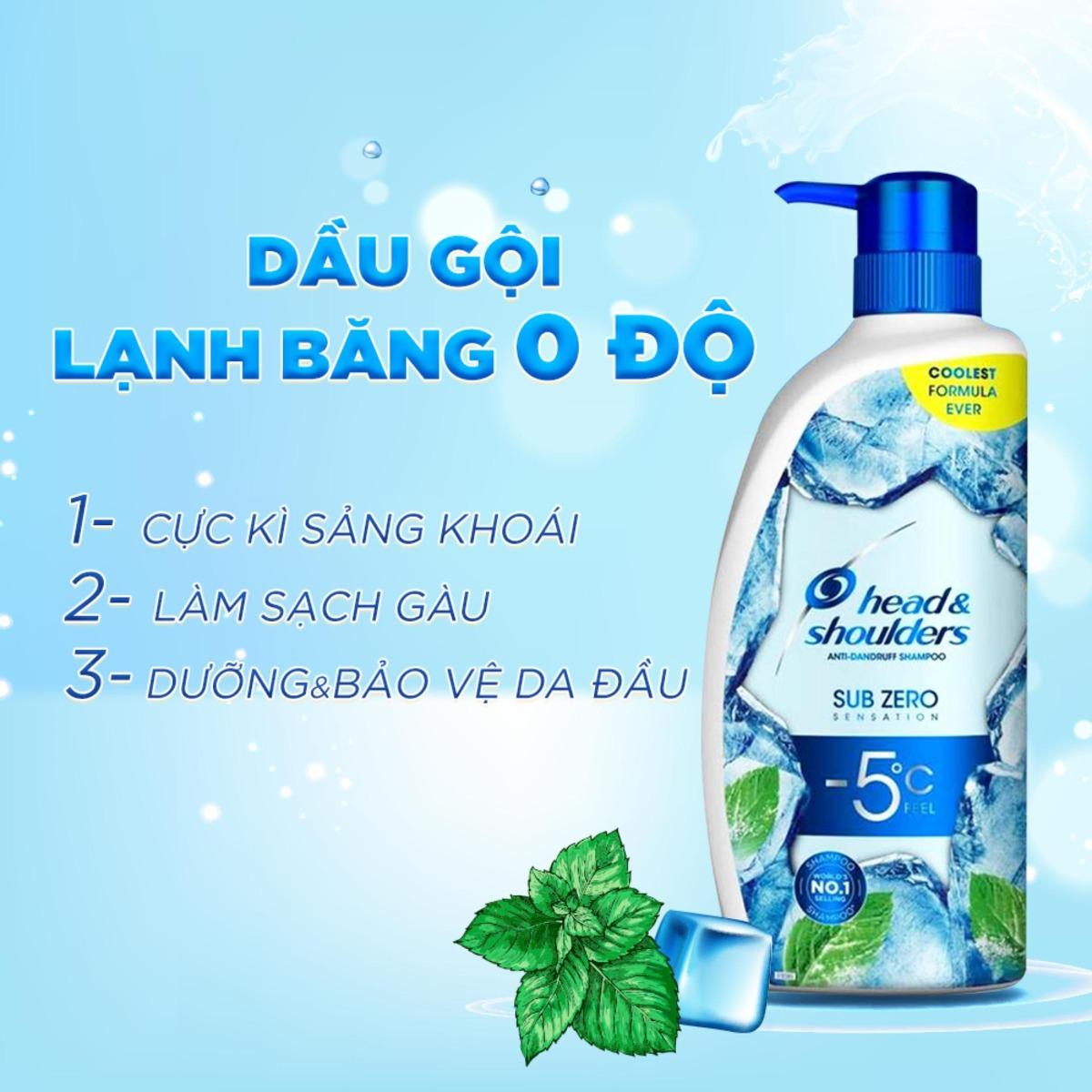 Dầu Gội Băng Lạnh Sạch Gàu Head & Shoulders Sub Zero Sensation 300ml