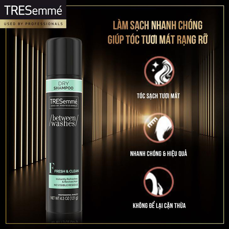 Dầu Gội Khô TRESemmé Dry Shampoo tươi mát
