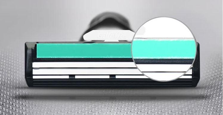 Lưỡi Dao Cạo Râu Gillette Vector với lớp bôi trơn