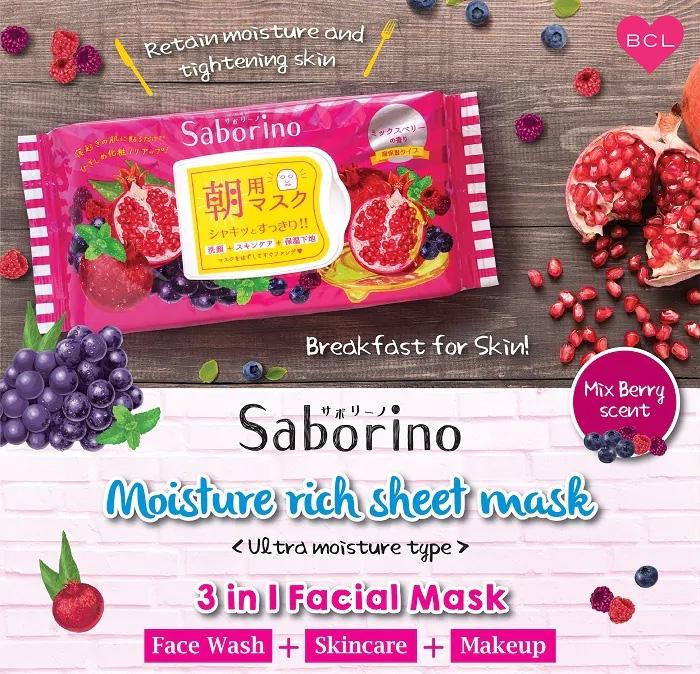 Mặt Nạ Buổi Sáng Dưỡng Ẩm Chuyên Sâu Saborino Morning Facial Sheet Mask Moisture Rich
