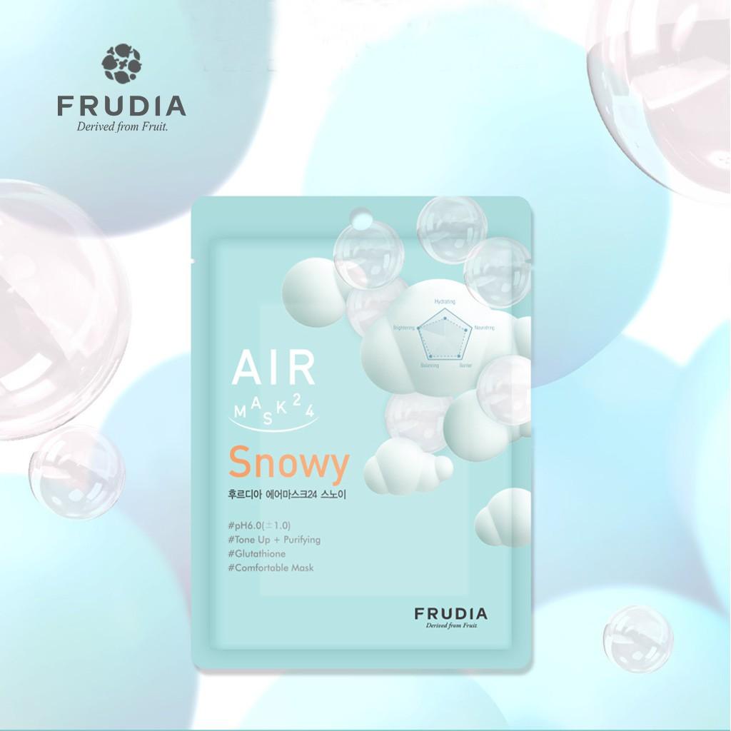 Mặt Nạ Dưỡng Ẩm Làm Sáng Da FRUDIA AIR Mask 24 Snowy 25ml