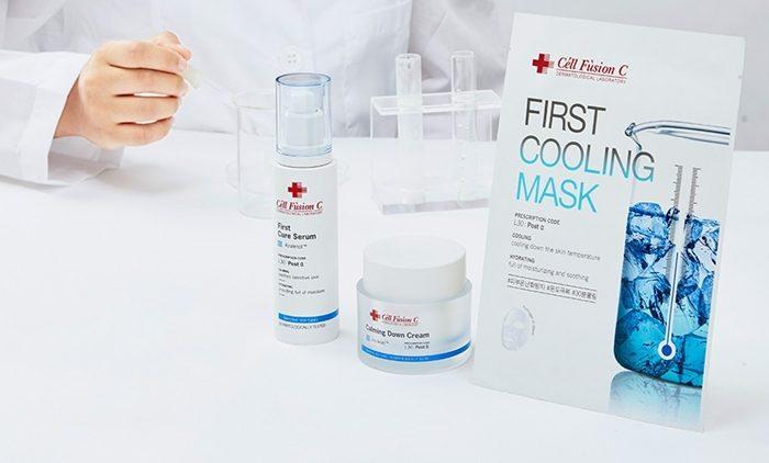 Mặt Nạ Làm Dịu Da Céll Fùsion C First Cooling Mask mát dịu da khi dùng