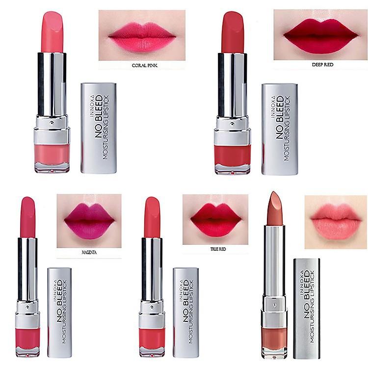 Son Lì Dưỡng Chất INNOXA No Bleed Lipstick 4.5g giàu dưỡng