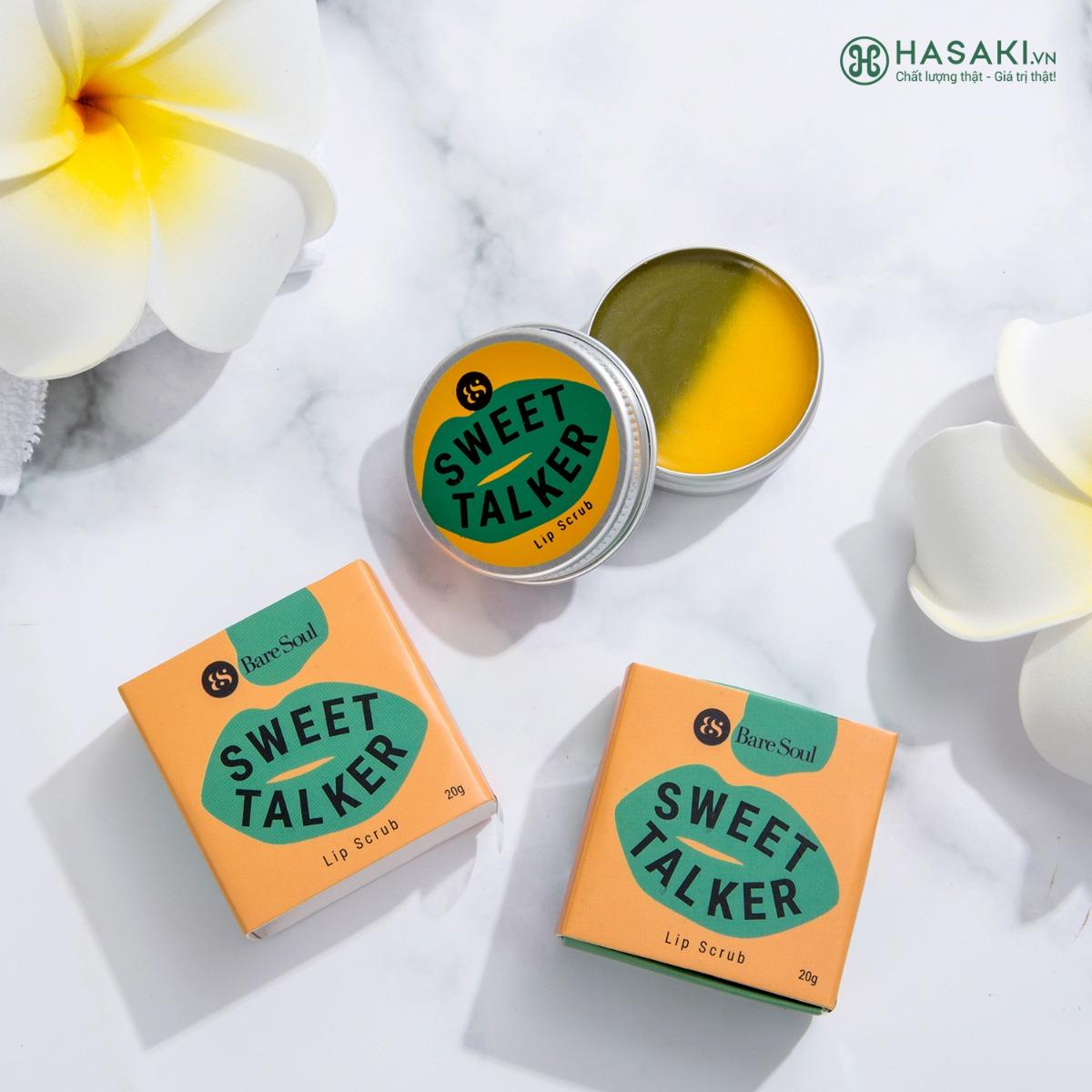 Tẩy Tế Bào Chết Môi BareSoul Sweet Talker Lip Scrub 20g