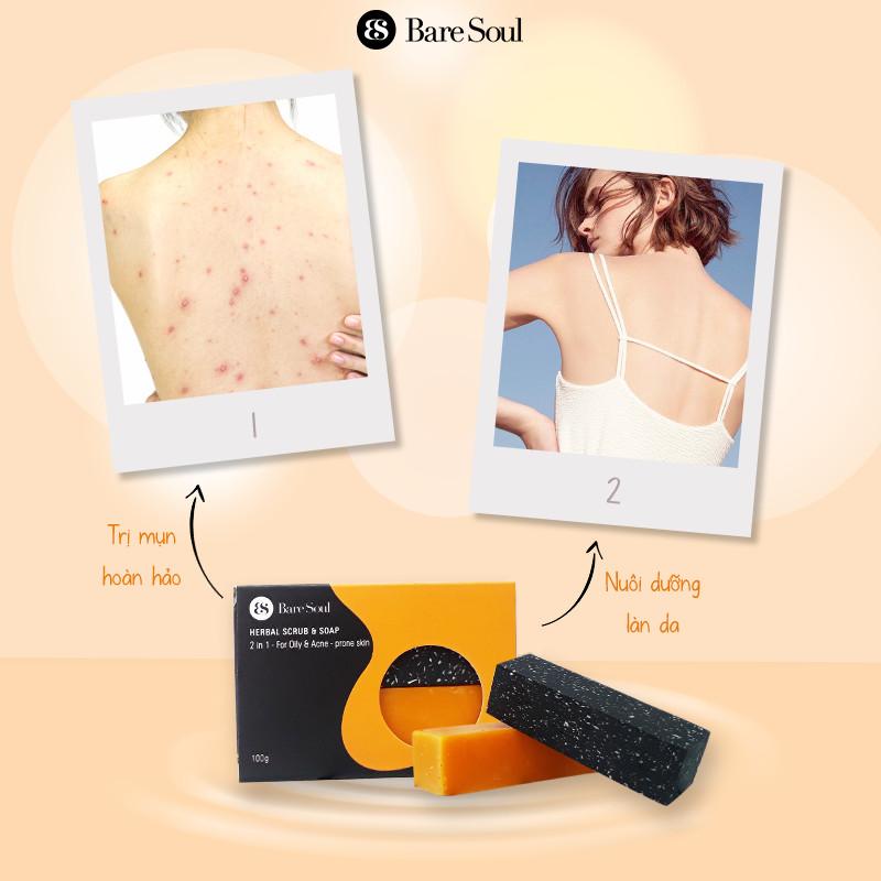 Công dụng Xà Phòng BareSoul Herbal Scrub & Soap 100g
