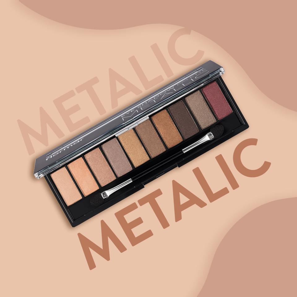 Bảng Phấn Mắt Flormar 10 Ô #04 Metallic Eye Shadow Palette 10g