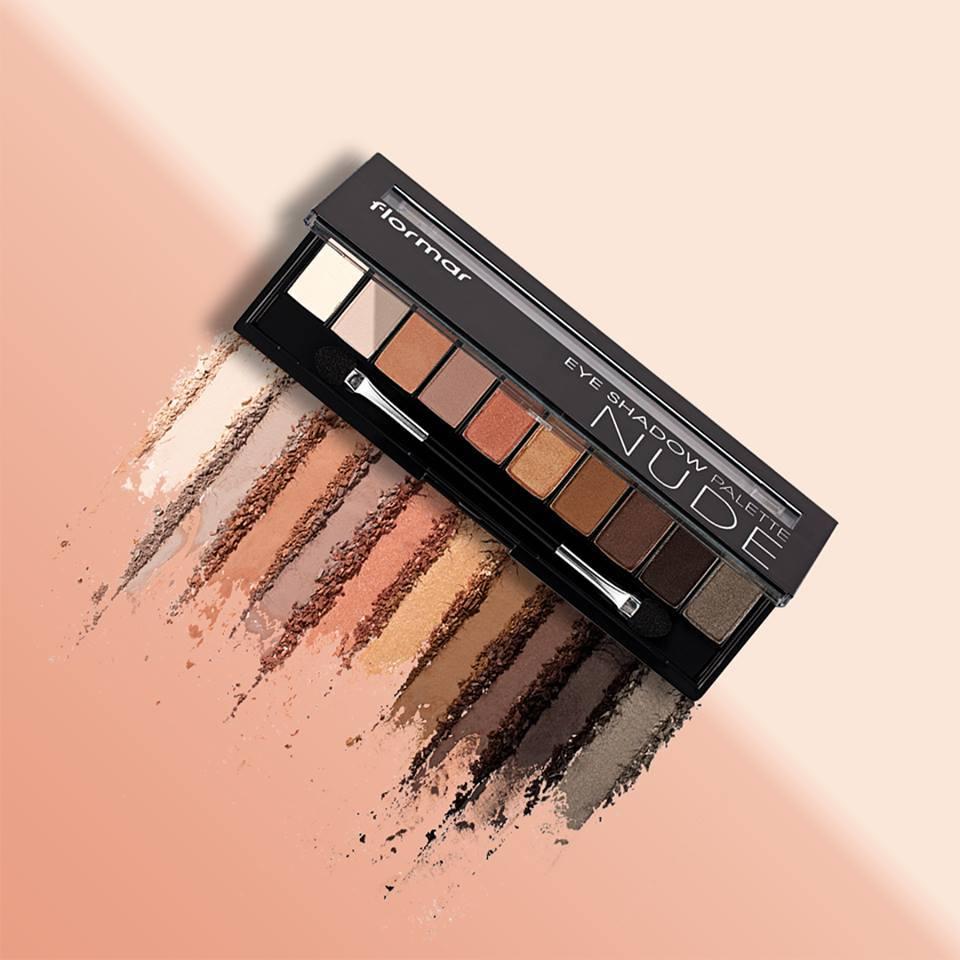 Bảng Phấn Mắt Flormar 10 Ô #01 Nude Eye Shadow Palette 10g
