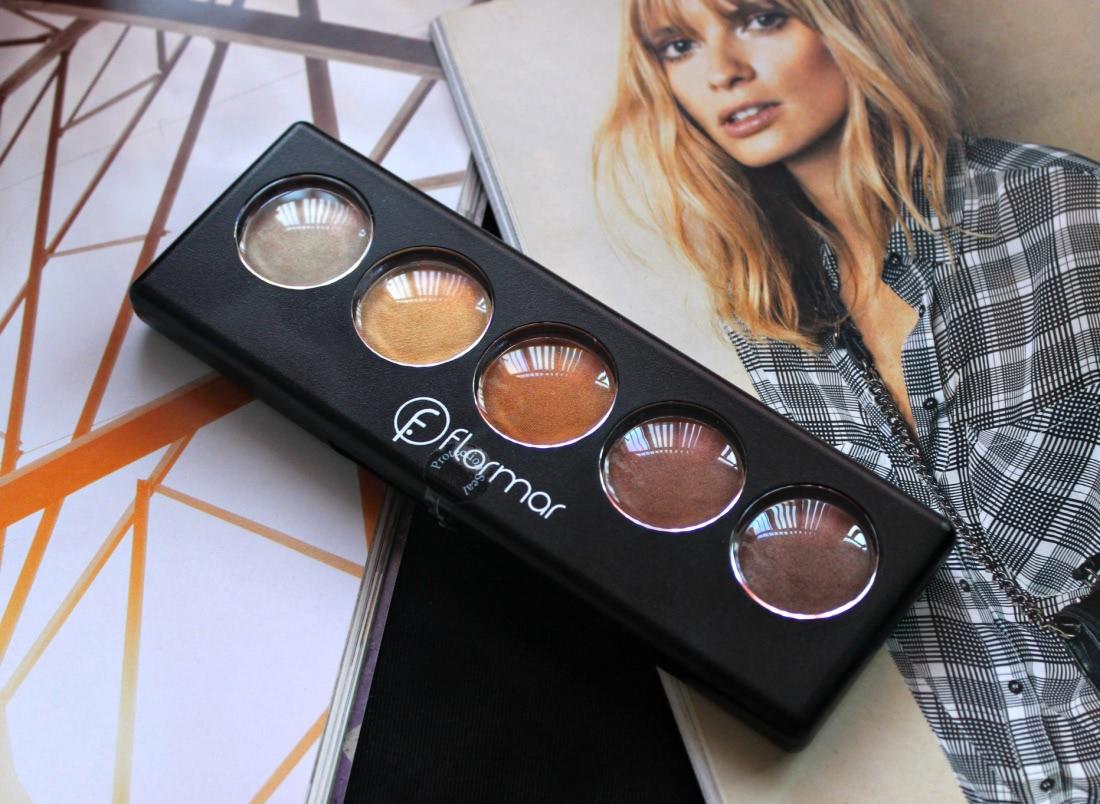 Bảng Phấn Mắt Flormar 5 Màu Color Palette Eye Shadow 9g màu golden caramel