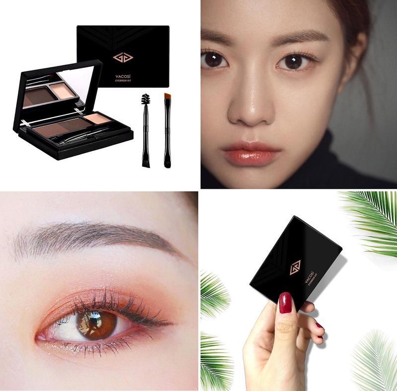 Bột Kẻ Chân Mày Vacosi Natural Studio Eyebrow Kit 7.5g mềm mịn