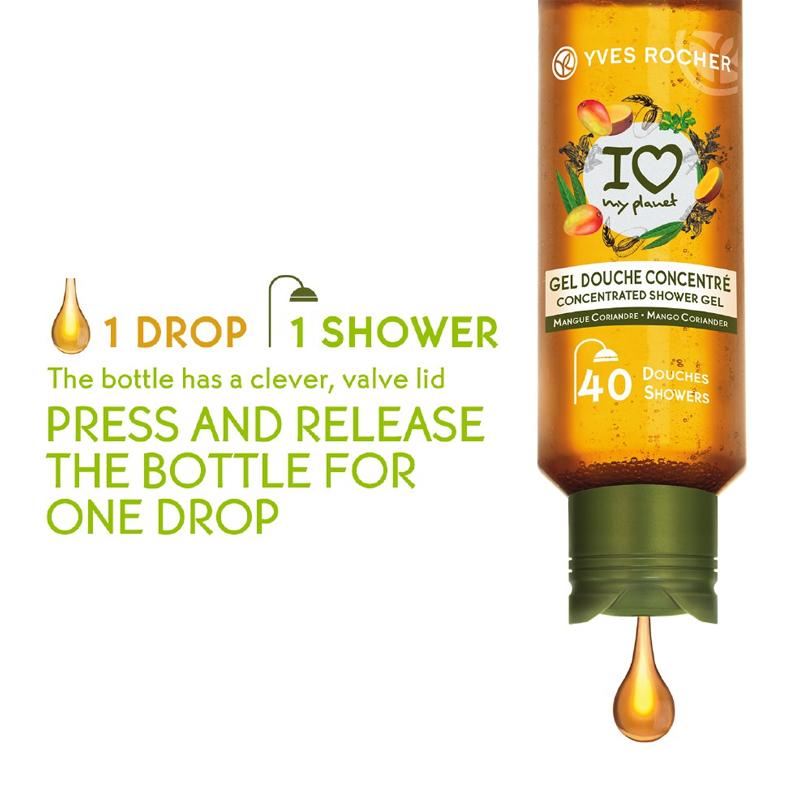 Gel Tắm Cô Đặc Yves Rocher Concentrated Shower Gel bảo vệ môi trường