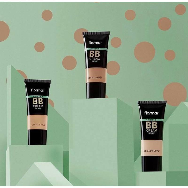 Kem Nền Che Khuyết Điểm Flormar AB02 Fair/Light Anti-Blemish BB Cream Oil-Free
