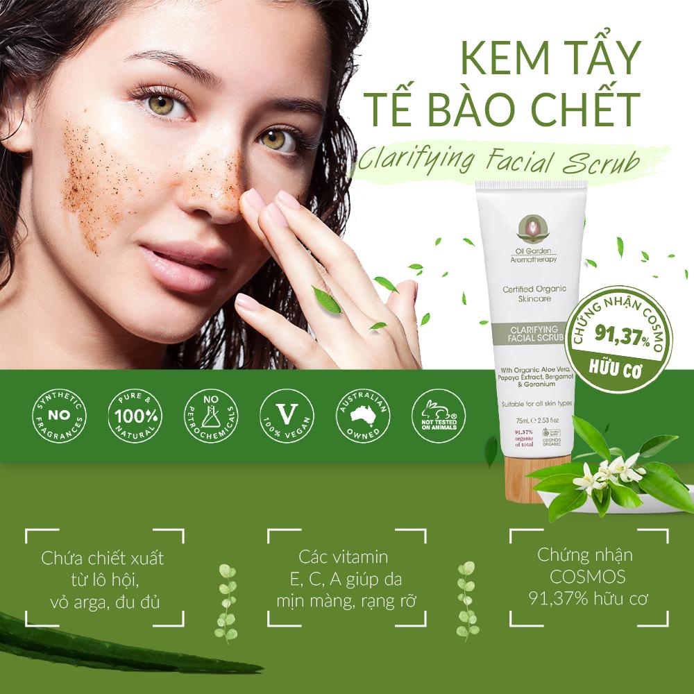 Kem Tẩy Tế Bào Chết Da Mặt OIL GARDEN Clarifying Facial Scrub 75ml dễ dùng