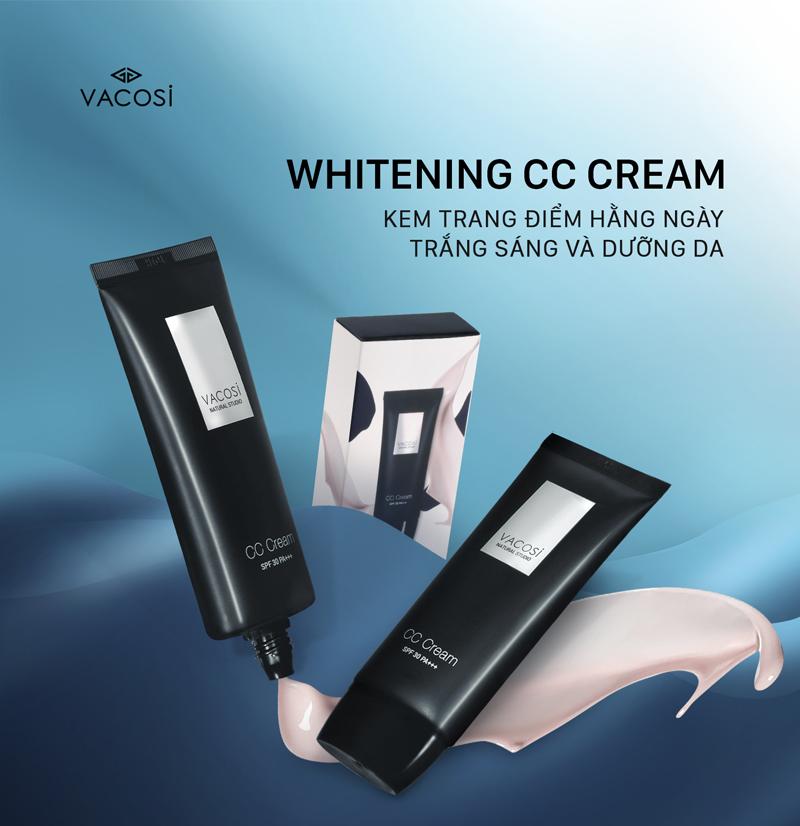 Kem Trang Điểm Hằng Ngày VACOSI CC Làm Sáng & Dưỡng Da SPF30 PA+++ Tone Correcting CC Cream 60ml