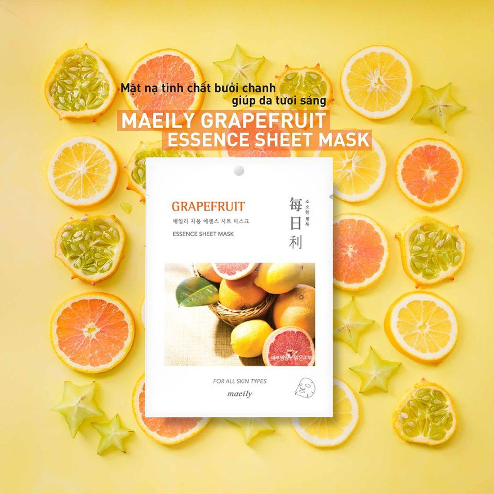 Mặt Nạ Maeily Essence Sheet Mask chiết xuất grapefruit
