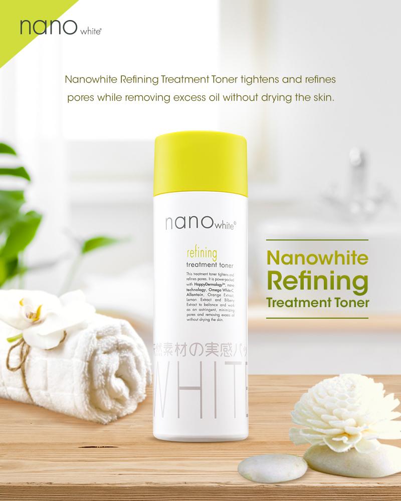 Nước Hoa Hồng Dưỡng Da Nano White 200ml Refining Treatment Toner