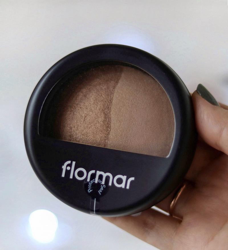 Phấn Phủ Dạng Nén 2 Màu Flormar 023 Dual Gold Bake Terracotta Powder dễ sử dụng