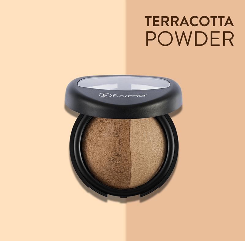 Phấn Phủ Dạng Nén 2 Màu Flormar 023 Dual Gold Bake Terracotta Powder