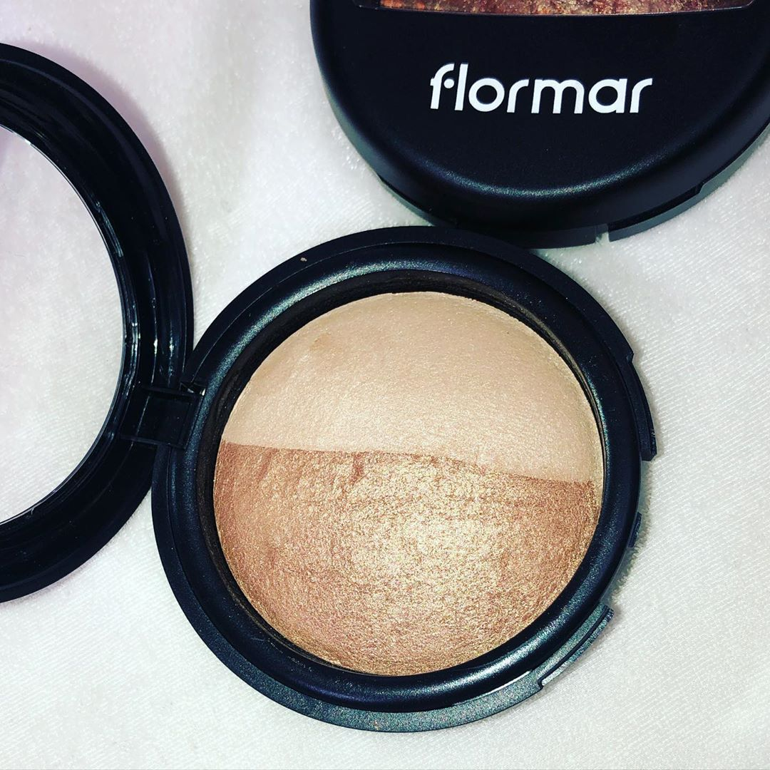 Phấn Phủ Dạng Nén 2 Màu Flormar 023 Dual Gold Bake Terracotta Powder lành tính