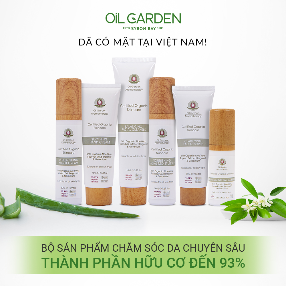 Serum Dưỡng Ngăn Ngừa Lão Hóa Da OIL GARDEN Rejuvenating Facial Serum 30ml hữu cơ