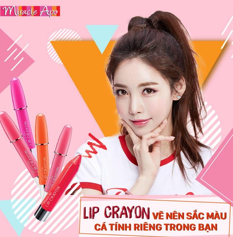 Son Bút Chì Miracle Apo Hồng Tiểu Thư Shy Pink Lip Crayon 3g