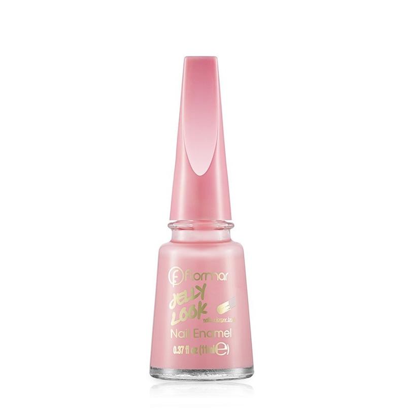 Sơn Móng Tay Flormar Màu Hồng Sữa JL27 Milky Pinky Jelly Look Nail Enamel