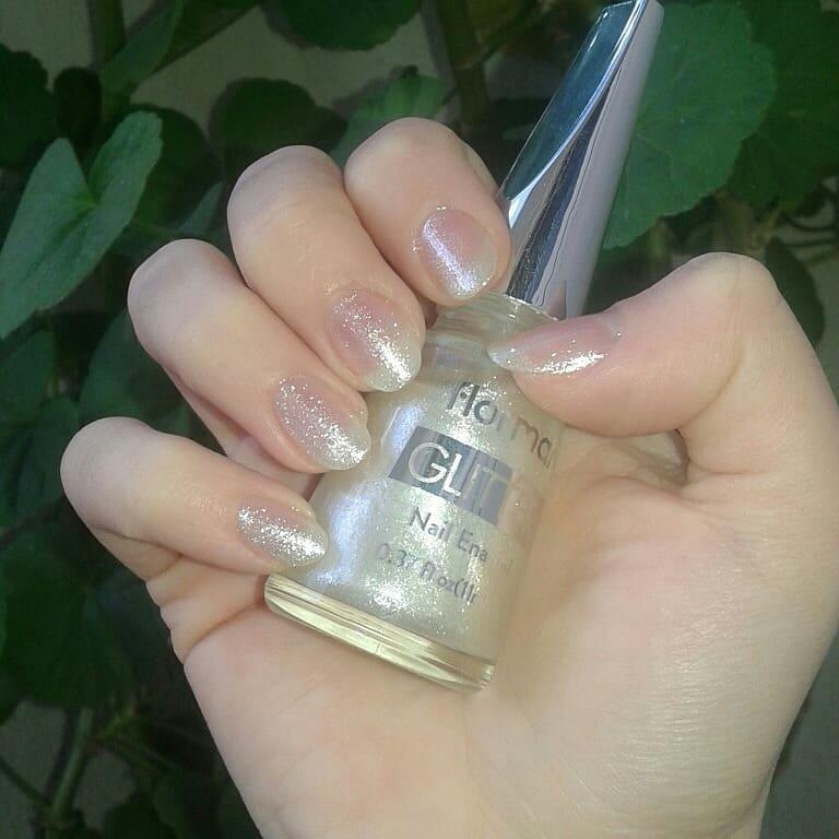 Sơn Móng Tay Kim Tuyến Flormar Màu Trắng GL12 White Pearl Glitter Nail Enamel