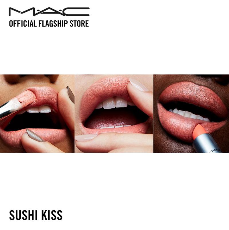 Son Thỏi Mềm Mịn Dạng Satin MAC Sushi Kiss Màu Cam San Hô Satin Lipstick