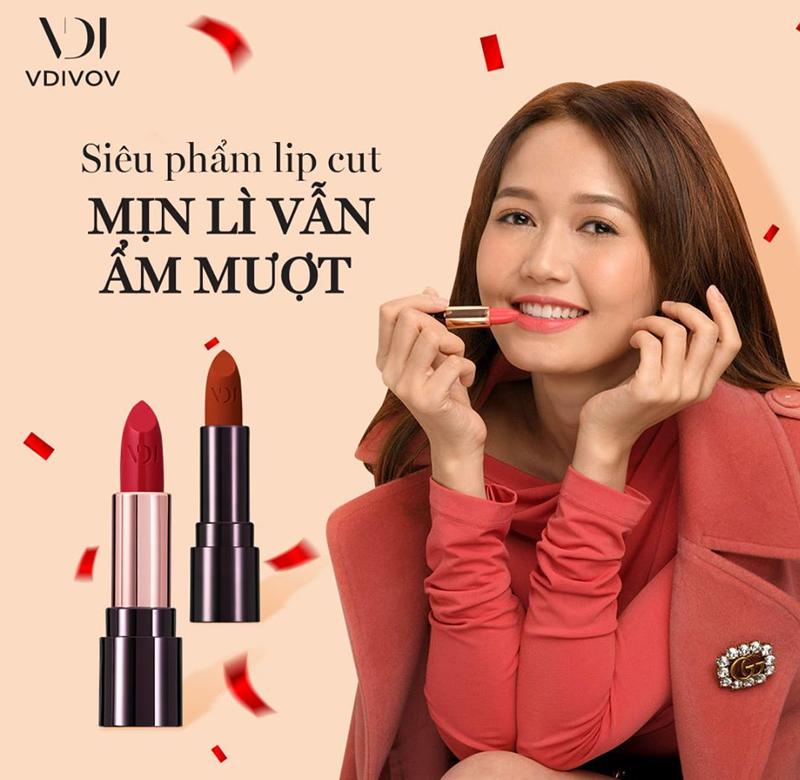 Son Thỏi Mịn Môi VDIVOV Lip Cut Rouge 3.8g nhiều màu sắc