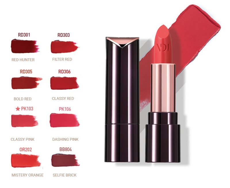 Son Thỏi Mịn Môi VDIVOV Lip Cut Rouge 3.8g bền màu