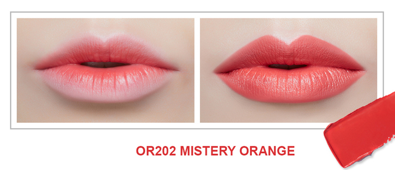 Son Thỏi Mịn Môi VDIVOV Lip Cut Rouge OR202 Mistery Orange 3.8g